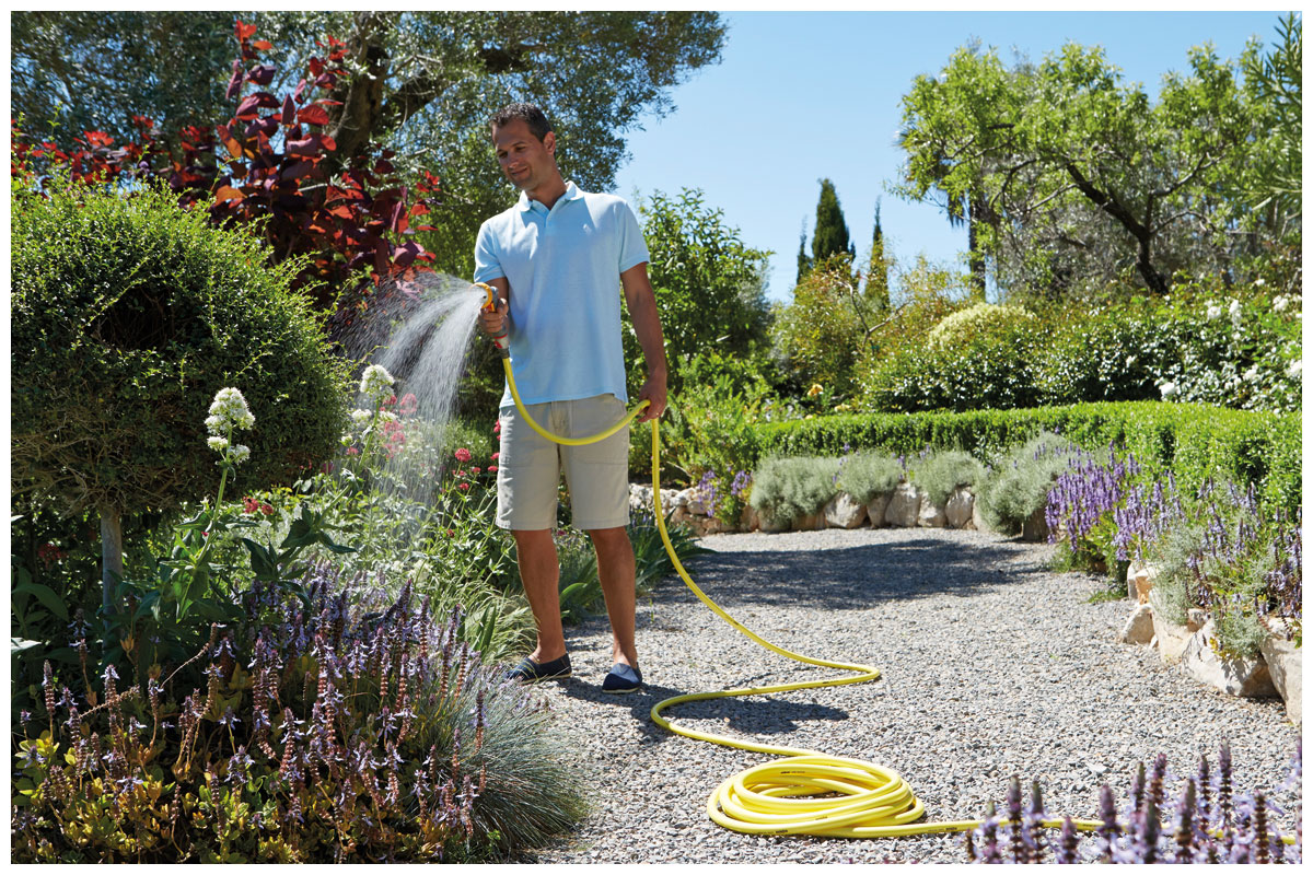 Hozelock gardening hoses and accessories are now stocked at Woodworks Garden Centre.